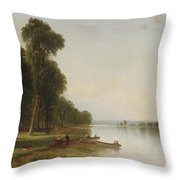 Summer Day On Conesus Lake Throw Pillow