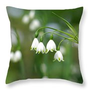 Summer Snowflakes Throw Pillow