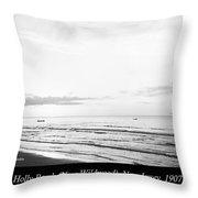 Sunrise, Holly Beach, Now Wildwood, New Jersey, 1907 Throw Pillow