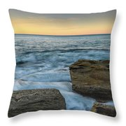 Sunrise On The Rocky Coast Throw Pillow