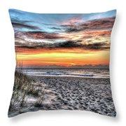 Sunrise Outer Banks Of North Carolina Seascape Throw Pillow