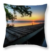 Sunrise Over Cayuga Lake Throw Pillow