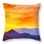 Sunrise Over Colorado Rocky Mountains Throw Pillow