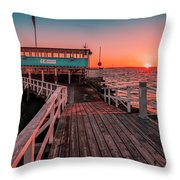 Sunset At Langedrag, Gothenburg Throw Pillow