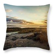 sunset Iceland Throw Pillow