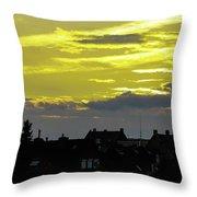 Sunset In Koln Throw Pillow