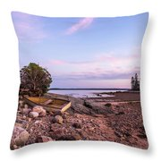 Sunset In New England Throw Pillow