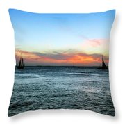 Sunset Key West  Throw Pillow