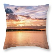 Sunset Over The Bay.......... Throw Pillow