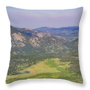 Superb Landscape In Rocky Mountain National Park Throw Pillow