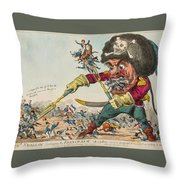 Swallow Destroying The French Army, Throw Pillow