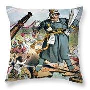 T. Roosevelt Cartoon Throw Pillow