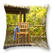 Tahiti Bora Bora Throw Pillow