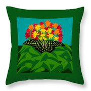 Tailed Jay Throw Pillow