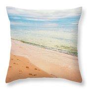 Tangalooma Island Beach In Moreton Bay.  Throw Pillow