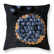 Tartlet With Blueberries Throw Pillow