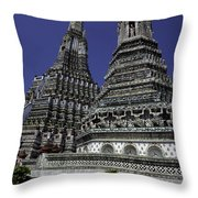 Temple Detail In Bangkok Thialand Throw Pillow