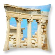 Temple Of Athena Nike In Greece Throw Pillow