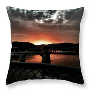 Tennessee River Sunset Throw Pillow