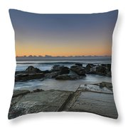Tessellated Rock Platform And Seascape Throw Pillow