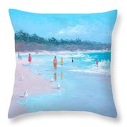 Testing The Water Throw Pillow