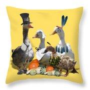 Thanksgiving Ducks Throw Pillow