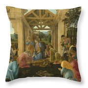 The Adoration Of The Magi Throw Pillow