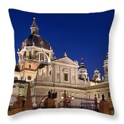 The Almudena Cathedral Throw Pillow