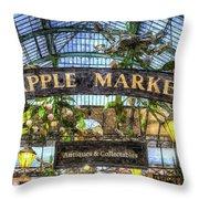 The Apple Market Covent Garden London Art Throw Pillow