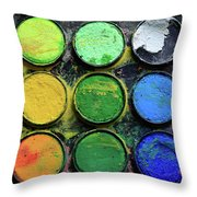 The Artist Throw Pillow by Tracy Hall