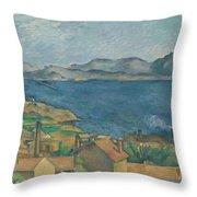 The Bay Of Marseilles Throw Pillow