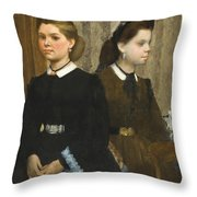 The Bellelli Sisters Throw Pillow