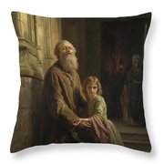 The Blind Beggar Throw Pillow