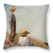 The Blue Boy Throw Pillow