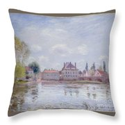 The Bridge Of Moret Throw Pillow