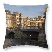 The Bridges Of Amsterdam Throw Pillow