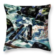 The Brook, Nova Scotia Throw Pillow