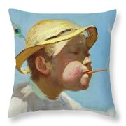 The Bubble Boy Throw Pillow