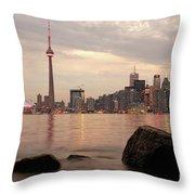 The City Of Toronto Throw Pillow