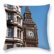 The Clock Tower In London Throw Pillow