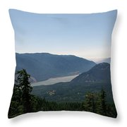 The Columbia River  Throw Pillow