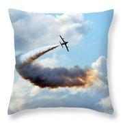 The Crazy Flight Throw Pillow
