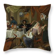 The Dissolute Household Throw Pillow