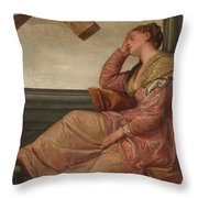 The Dream Of Saint Helena Throw Pillow