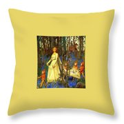 The Fairy Wood Henry Meynell Rheam Throw Pillow