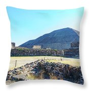 The Famous Pyramid Of The Sun Throw Pillow