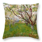 The Flowering Orchard Throw Pillow