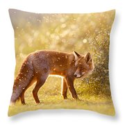 The Fox And The Fairy Dust Throw Pillow
