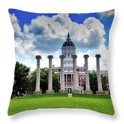 The Francis Quadrangle - University Of Missouri Throw Pillow