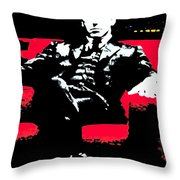 The Godfather Throw Pillow by Luis Ludzska